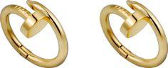 Cartier - Juste un Clou Gold Cufflinks. French Cuff Shirts, Bangles, Bracelets, Cartier Love Bracelet, Gifts For Him, 18k Gold, Gold Rings, Cufflinks, Yellow