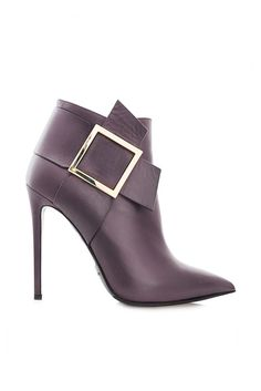 Online Shop spring and autumn boots sexy pointed toe metal buckle stiletto boots full genuine leather boots brief Stiletto Boots, Heeled Boots, Bootie Boots, Shoe Boots, Stilettos, High Heels, Hot Shoes, Shoes Heels, Botas Sexy