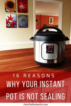 Here are the top reasons why your Instant Pot is not sealing. This guide helps you troubleshoot the main problem most Instant Pot users encounter: that the Instant Pot is not being pressurized. From Paint the Kitchen Red instant pot recipes Electric Pressure Cooker, Instant Pot Pressure Cooker, Pressure Pot, Pressure Cooking Recipes, Cooking Tips, Camping Cooking, Cooking Classes, Potted Shrimp, Best Instant Pot Recipe
