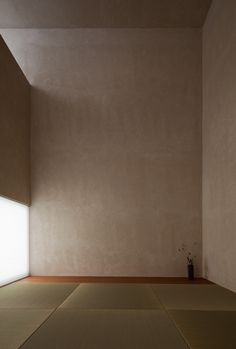 Gives a sense of scale, using non-load bearing wall to change the light coming into the space
