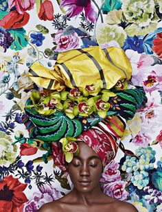 blackafricanandbeautiful:  dynamicafrica:  Taking Headwraps and Fabrics to a Whole New Level with AD Magazine Russia. Photographer Olga Volk...