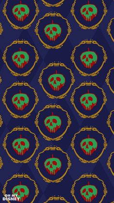 These Disney Villain Phone Wallpapers Inspired by Wrapping Paper Are Perfectly Wicked