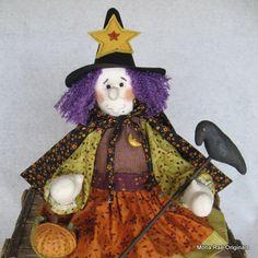 Halloween Witch Doll  Glenda by MROriginals on Etsy, $39.99