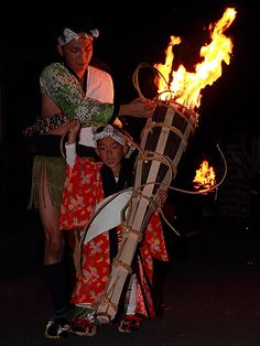 Kurama fire festival - (October 22nd outside of Kyoto) boys of all ages participate, toting lit torches all through the crowded streets, up to the temple....
