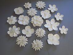 CUSTOM ORDER ONLY- Wedding Gift, Anniversary Gift, Floral, poppy, camelias, white puffy dahlia wall sculpture, flower wall art, garden art on Etsy, € 380,54