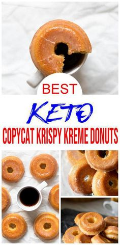 Keto Donuts How does a Krispy Kreme donut sound on a ketogenic diet? Pretty tasty right? Now you can make a low carb keto copycat Krispy Kreme donut with this simple recipe. I know I didn't want to give up donuts… Keto Foods, Ketogenic Recipes, Low Carb Recipes, Ketogenic Diet, Cooking Recipes, Keto Desserts, Keto Friendly Desserts, Keto Snacks, Diabetic Snacks