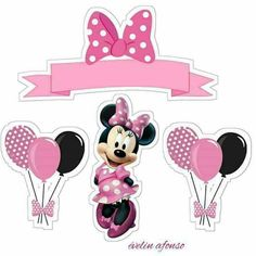 Minnie Mouse Cake Decorations, Minnie Mouse Cake Topper, Mini Mouse Cake, Minie Mouse Party, Minnie Mouse Birthday Theme, Minnie Mouse Baby Shower, Minnie Mouse Stickers, Minnie Mouse Rosa, Mouse Parties