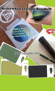 I am doing a special giveaway for Seahawk fans. Anyone that purchases $100 worth of product from me between now and Valentine's Day will be entered to win Seahawk eye colors including 2 eyeshadows eyeliner and mascara if the Seahawks win the Super Bowl. Go to Marykay.com/miriamsmith to order or message me.