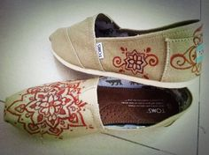 Design Your Own Toms  design your own custom painted by sashian, $25.00!!! I think I may need to do this! I love #Etsy !