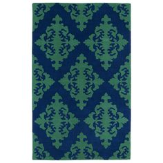 The Runway collection offers geometric-inspired designs that will add warmth and perspective to any decor. This charming area rug also highlights a durable construction, and a navy and emerald palette that blends seamlessly with various types of decor.