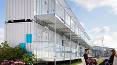 Portable hotel ideal for temporary events with large crowds.