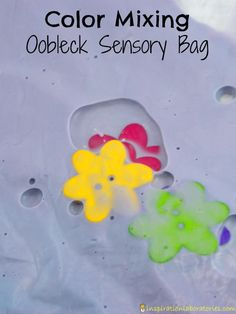 Color Mixing Oobleck Sensory Bag - Experience all of the squishy goodness of oobleck without the cleanup.