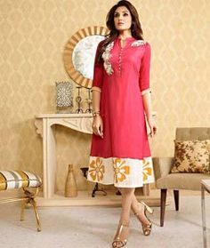 Shop Pink Georgette Readymade Kurti 72542 online at best price from vast collection of designer kurti at Indianclothstore.com.