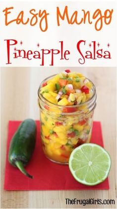Get ready to be introduced to your new definition of a delicious salsa with this Easy Mango Pineapple Salsa Recipe! What You'll Need: 2 peeled and chopped Mangos cup crushed Dole Pineapple (dra. Mango Pineapple Salsa, Dole Pineapple, Canned Pineapple, Salsa Tomate, Appetizer Recipes, Appetizers, Healthy Snacks, Healthy Recipes, Good Food