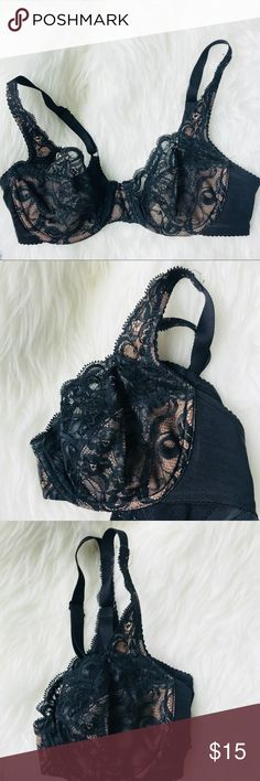 Lunaire Black Nude Lace Bra Size 34C. NWOT. Lunaire Intimates & Sleepwear Bras