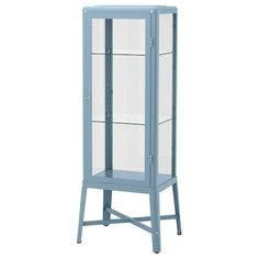 IKEA - FABRIKÖR, Glass-door cabinet, dark gray, With a glass-door cabinet, you can show off as well as protect your glassware or your favorite collection. You can easily change the height according to your storage needs as the shelves are adjustable. Dining Cabinet, Glass Cabinet Doors, Sliding Glass Door, Glass Doors, At Home Furniture Store, Modern Home Furniture, Urban Furniture, Ikea Kivik, Cleanser