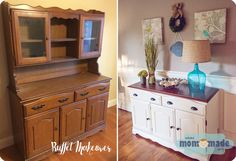 Buffet/Sideboard Makeover with Chalk Paint