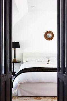 white + black bedroom