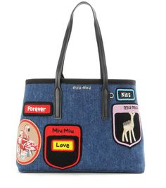 Miu Miu Denim #Tote #Bag. Shop yours for toting your daily essentials. Price: $1,480.00