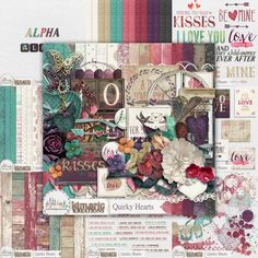 kimeric kreations: Quirky Hearts - new this week! and a fabulous cluster to share!