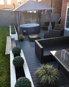 Back Garden Design, Modern Garden Design, Backyard Garden Design, Backyard Patio, Backyard Landscaping, Small Patio Design, Terrace Garden, Back Gardens, Outdoor Gardens
