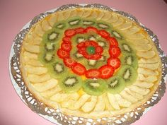 Tarta de manzana ,kiwi y fresas