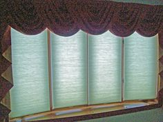 Cordless Cellular Shades On 4 Window Bow Bow Window Treatments, Cellular Shades, Window Ideas, Bay Window, Valance Curtains, Blinds, Windows, Reading, Books