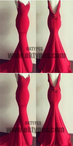 Red Long Mermaid Prom Dresses, Sweetheart Prom Dresses, Backless Prom Dresses, Sexy Prom Dresses, TYP0212 #promdresses