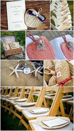How to Use Raffia Fans as Wedding Programs, Favors and More