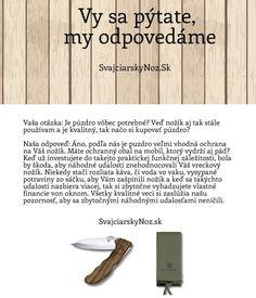 Prečo si mám kúpiť aj puzdro k nožu? Nie je to zbytočné?  #svajciarsky_noz #Victorinox #vreckove_noze #vreckove_noze_Victorinox http://www.svajciarskynoz.sk/otazky/
