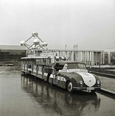 Volkswagen train on Expo-58 - #Atomium / Selected by www.20emesiecle.be