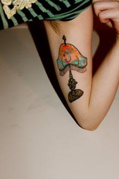 Victorian lamp tattoo