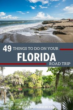 49 Things To Do In Florida: Unmatched Experiences in the Sunshine State -- There are so many cool things to do in Florida from beaches to theme parks to clear water springs. For years we've explored the state, but we're finally bringing it all together for you here with our list of must-do Florida experiences.  We starting in the Panhandle and making our way down the peninsula, through Orlando down to Miami and all the way to the Florida Keys and Key West.  #Florida #roadtrip #familytravel