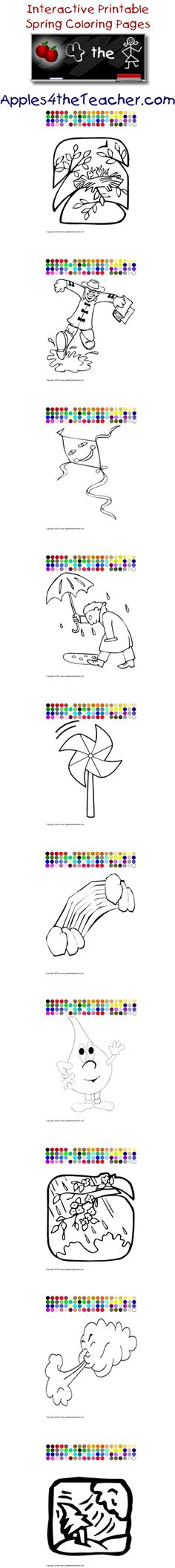Printable interactive Fall coloring pages, Fall coloring pages for ...