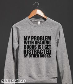 THE PROBLEM WITH READING BOOKS IS I GET DISTRACTED BY OTHER BOOKS #Skreened