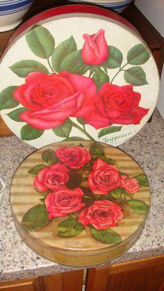 Vintage Rose Tins