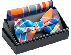"OUMUS Cotton Ajustable Tuxedo Handmade Bow Tie & Handkerchief Set - OUMUS men's neck bow tie classical and thoroughly shows your gentle manner and spirit. The perfect package show your high taste. What's more, you can give this to your friends as a gift, I promise they will love it very much. Size Bow Tie Size: 4.72'' x 2.36'', Pocket Square Size: 9.06"" x9.06"" Ma..."