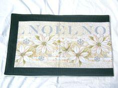 Christmas table runner table mat Holiday print by sewinggranny, $20.00