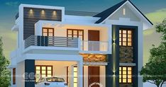 Awesome budget friendly mixed roof home modern house plans, dream house plans, small house Two Story House Design, Duplex House Plans, Bungalow House Design, House Front Design, Dream House Plans, Small House Plans, Modern Exterior House Designs, Modern House Design, Modern Bungalow Exterior