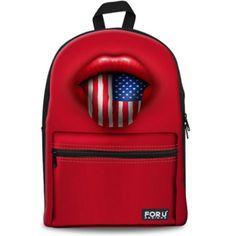 Stylish Red Canvas US UK Flag School Backpack for Women Casual Teenager Girls Backbag Children Laptop Bag Pack Mochilas Femina