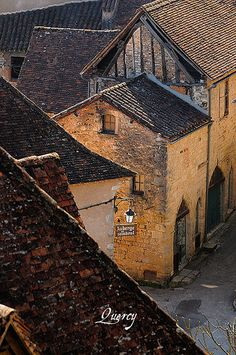 Roofs, Quercy, France by S. Lo - Sigfrid Lopez