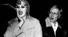 Candy Darling and Andy Warhol, 1974 - photo by Anton Perich