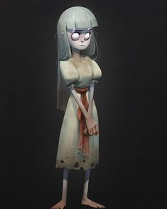 posted by maxgrecke via instagram :   Spooky girl! #drawing #digital #art #illustration #character #concept #girl #scary #horror #grecke  girl,drawing,concept,character,digital,horror,scary,illustration,art,grecke