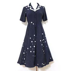 Fab.com | 50s Nautical Dot Dress Navy