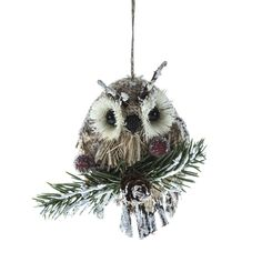 £1.19 Hanging Owl and Berries Decoration