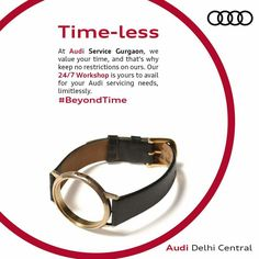 You'll always be welcome to the 24/7 workshop at Audi Service Gurgaon. Book a service, at any moment in time. Visit Audi Delhi Central to book one today. #BeyondTime
