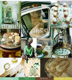 Love -Teal gold duchess inspiration board - Gorgeous Beauty - Splendor and Elegance