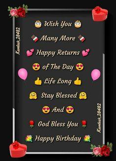 Birthday Wishes Reply, Happy Birthday Wishes Cards, Happy Birthday Images, Birthday Greetings, Birthday Photos, Birthday Celebration, Happy Birthday Best Friend Quotes, Birthday Girl Quotes, Birthday Captions