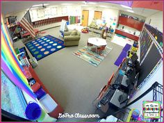 See a classroom setup that uses no desks and no tables in kindergarten. Kindergarten classroom set up. Classroom design.