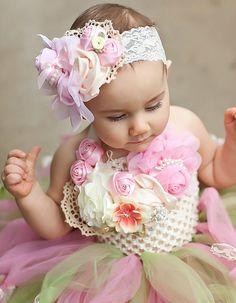 French Vintage Ivory & Lace Baby Crochet Tutu by PoshBabyGirlTutus, $69.00